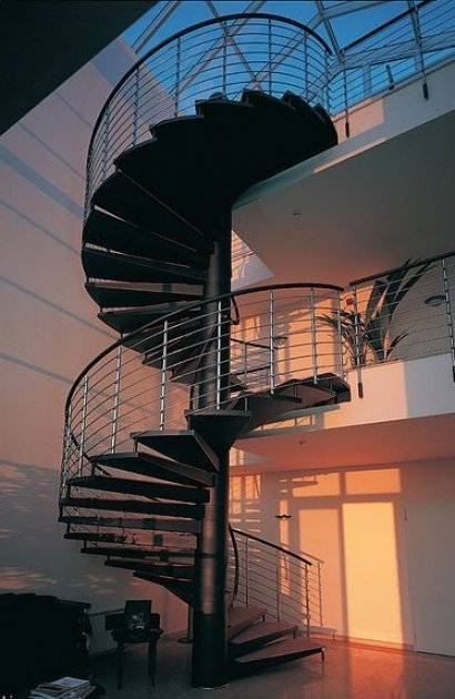 Spiral staircases. What are the spiral staircase? How define a spiral staircase?