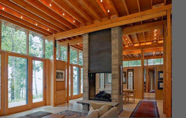 Acabados interiores de madera - Revestimiento de paredes interiores en madera ...