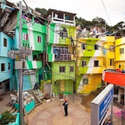 las favelas. barrios degradados