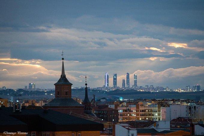 Torres de Madrid desde Alcala de Henares