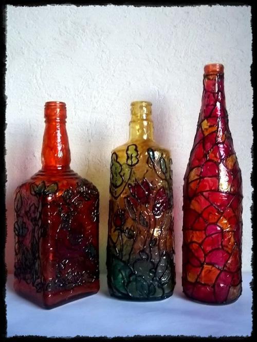 Art culo m s visto durante el a o 2013 pintar botellas de - Como pintar botellas de plastico ...