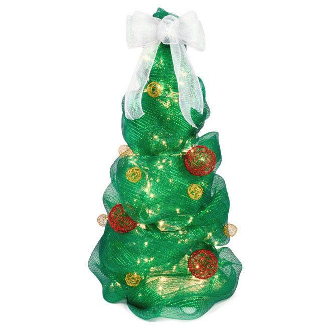 Ideas para hacer un rbol de navidad con malla de pl stico - Comprar arboles de navidad decorados ...