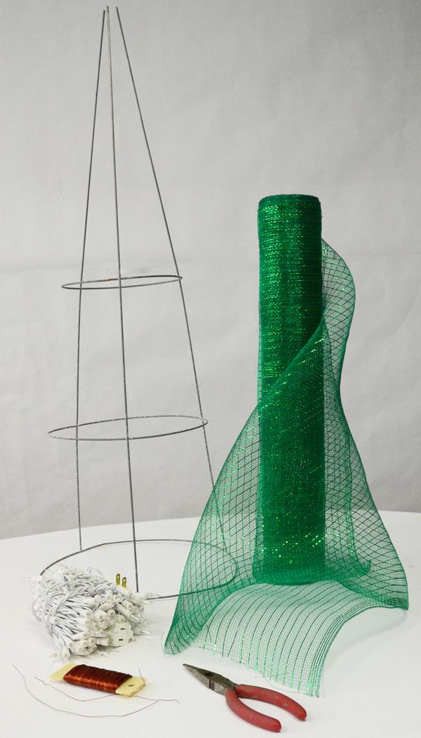 Ideas Para Hacer Un Arbol De Navidad Con Malla De Plastico - Hacer-arboles-de-navidad