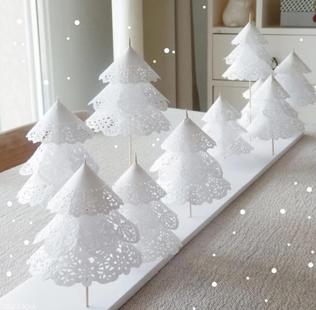 Cmo hacer originales arboles de navidad con papel de pastelera - Originales arboles de navidad ...