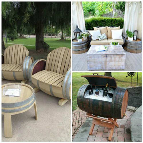 Aprovechar unos barriles de vino para hacer algún original mueble