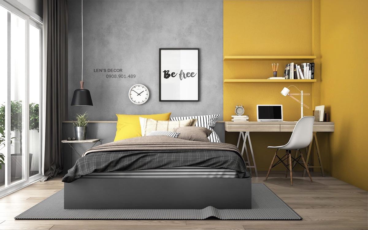 Interior gris y amarillo