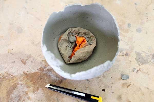 como hacer un candelabro con cemento tu mismo