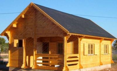 Casa prefabricada de madera de 60 m2 for Interiores de casas prefabricadas