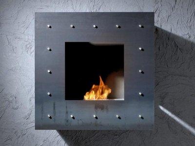 Decorar una sala con una chimenea de bioetanol - Chimenea bioetanol pared ...
