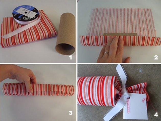 Aprovechar los rollos de papel higinico - Como decorar un rollo de papel higienico ...