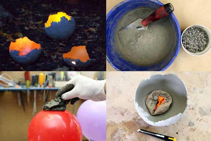 Cómo hacer un candelabro de cemento tu mismo.
