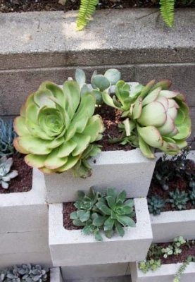 Jardineras con bloques de hormign for Jardineras con bloques