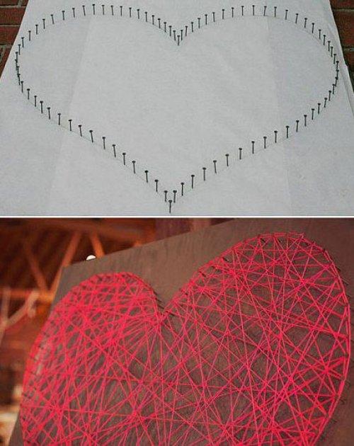 f10c184377b6 Cómo hacer figuras y cuadros con hilos o cuerdas de lana