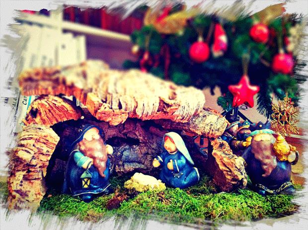 Un beln sencillo para navidad for Como decorar un belen de navidad