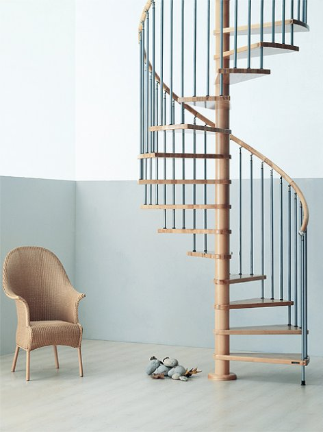 escaleras de caracol de madera