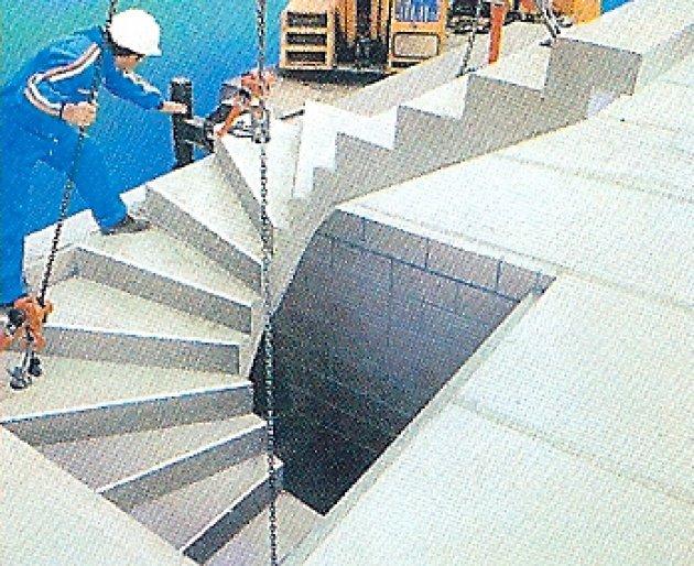 Las escaleras prefabricadas de hormign for Construccion de una escalera de hormigon