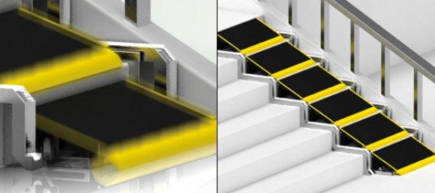 Las Escaleras Que Se Convierten En Rampa