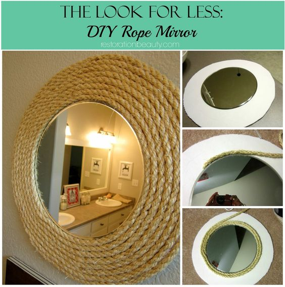 Ideas para hacer un marco de espejo tu mismo for Como hacer un espejo con marco de madera