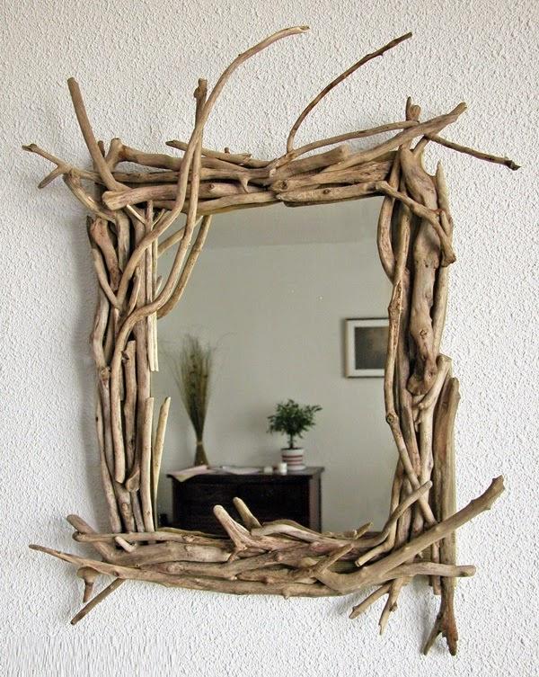 Ideas para hacer un marco de espejo tu mismo for Espejos con formas originales