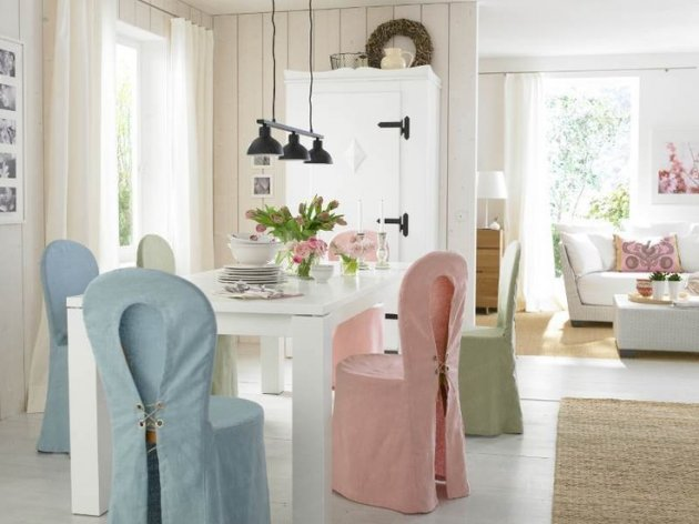 Fundas y forros para un silln o una silla for Sillas de comedor tipo sillon