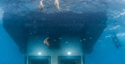 Un hotel sumergido en el mar for Habitacion de hotel bajo el mar