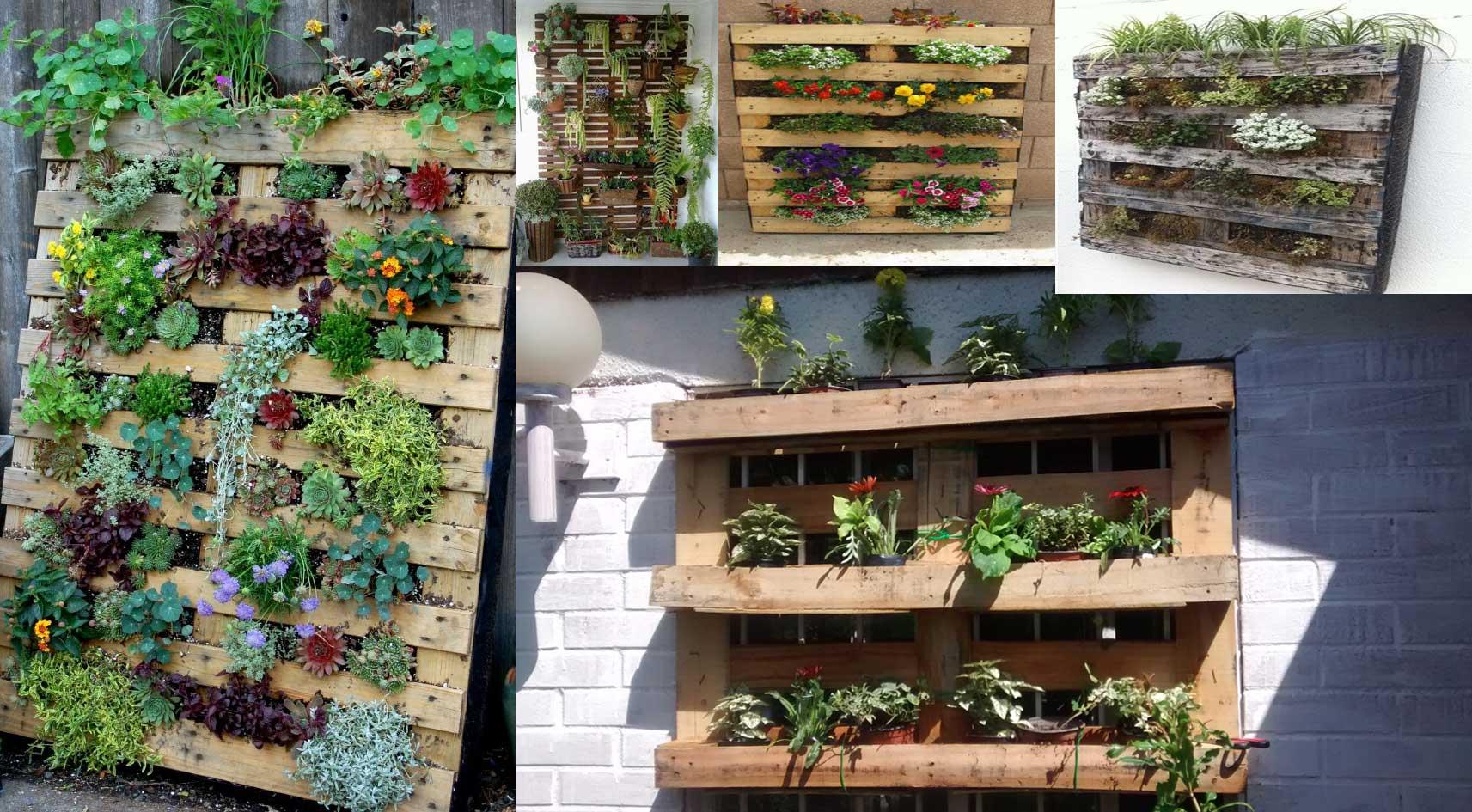 Jardineras verticales con palets Jardin vertical en palets