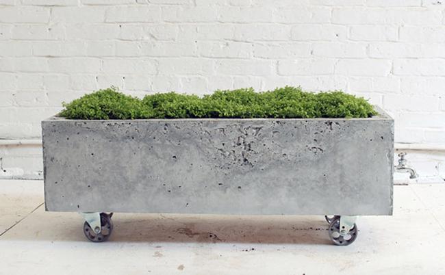 Macetero de cemento hormign hecho por nosotros mismos - Como fabricar maceteros de madera ...