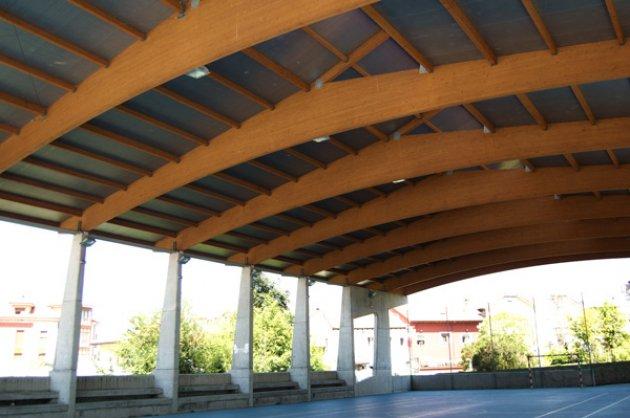 Foto de madera laminada encolada - Estructuras de madera laminada ...