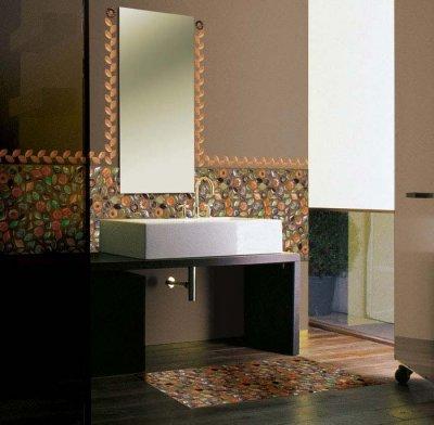 Decoración de suelos y paredes con mosaicos vítreos