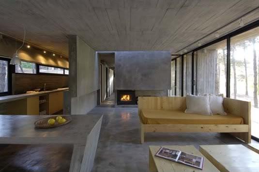 Muebles hechos de hormigón