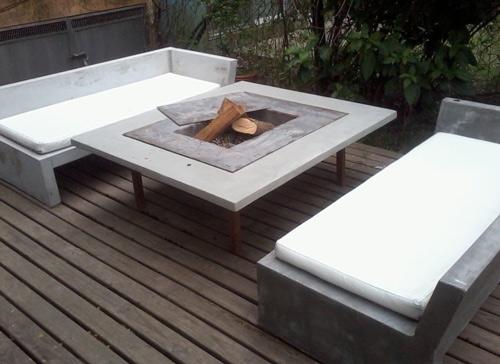 muebles hechos de hormign