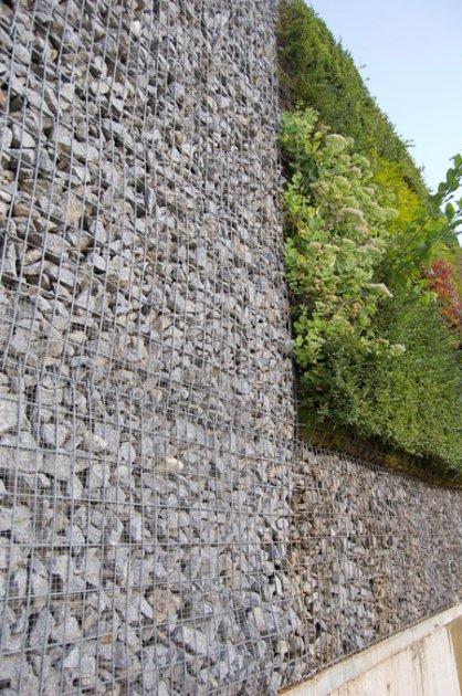 Muro de gaviones y muro vegetal - Muros de gavion ...