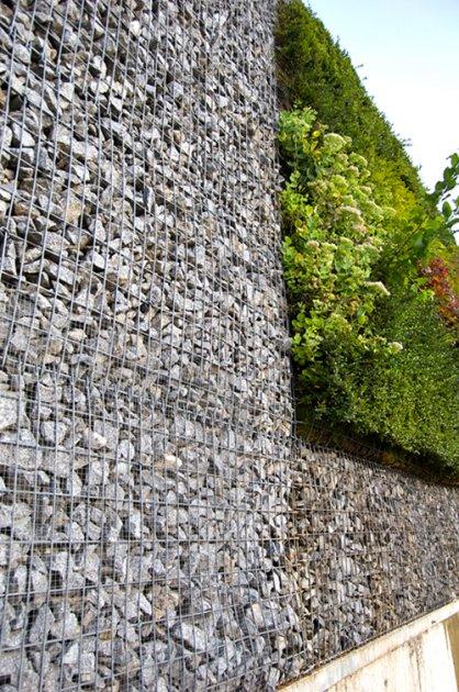 Muro de gaviones y muro vegetal - Malla para gaviones ...
