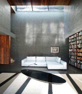 Decorar viviendas con paredes de hormigón visto