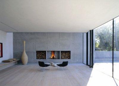 Decorar viviendas con paredes de hormign visto for Casas modernas hormigon visto