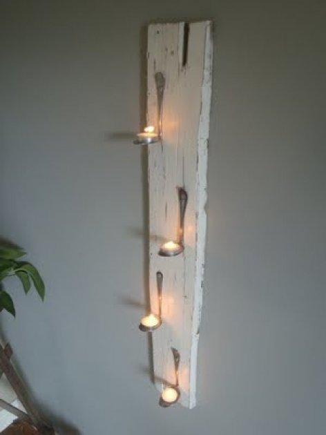 C mo hacer un original candelabro de pared - Candelabros de pared ...