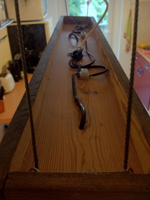 C mo hacer una l mpara con ralladores - Lamparas rusticas de madera ...