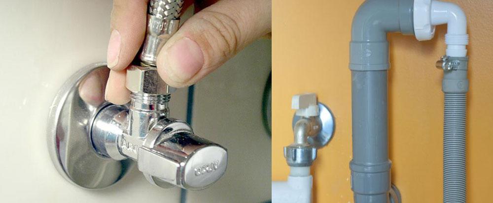 ¿Cómo instalar una lavadora uno mismo? La tomas de agua y el desagüe.