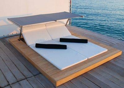 Una tumbona para exterior que te protege del sol - Tumbona exterior ...