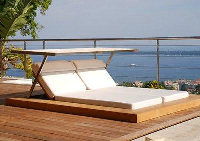 Una tumbona para exterior que te protege del sol - Tumbonas para piscina ...