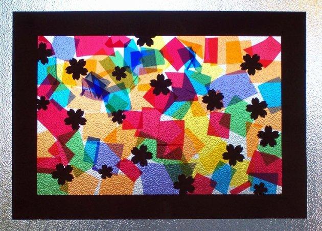 Vidrieras con papel de colores celof n - Como hacer una vidriera ...